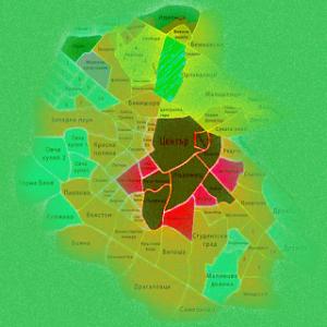 Карта - квартали